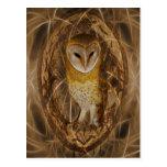 Dream catcher owl postcard
