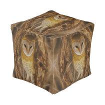 Dream catcher owl pouf