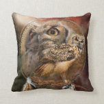 Dream Catcher - Owl Spirit Art Designer Pillow