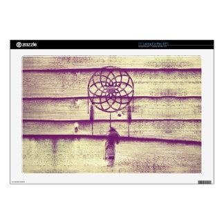 "Dream Catcher Purple Wood 17"" Laptop Skin"