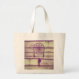 Dream Catcher Purple Wood Bags