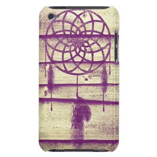 Dream Catcher Purple Wood Barely There iPod Covers
