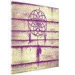 Dream Catcher Purple Wood Canvas Print