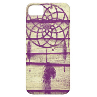 Dream Catcher Purple Wood iPhone 5 Cover