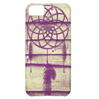 Dream Catcher Purple Wood Cover For iPhone 5C