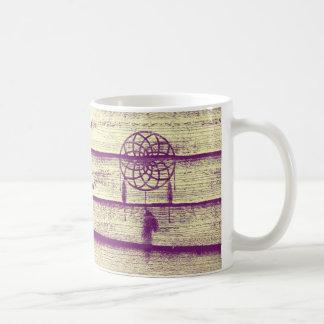 Dream Catcher Purple Wood Coffee Mug
