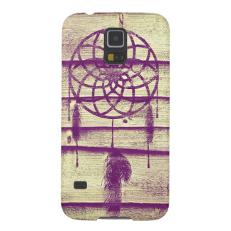 Dream Catcher Purple Wood Galaxy S5 Cases