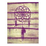 Dream Catcher Purple Wood Postcard