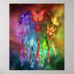 Dream Catcher - Rainbow Dreams Art Poster/Print Poster