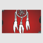 DREAM CATCHER RED BACKGROUND PRODUCTS STICKERS