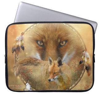 Dream Catcher - Red Spirit Fox Laptop Sleeve