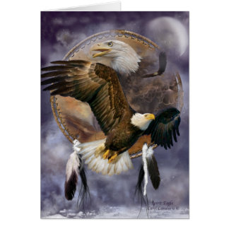 Dream Catcher Series - Spirit Eagle ArtCard Greeting Cards