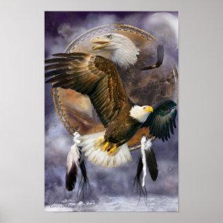 Dream Catcher Series - Spirit Eagle Poster/Print Poster