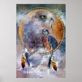 Dream Catcher Series - Spirit Hawk Poster/Print zazzle_print