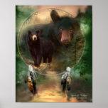 Dream Catcher Series-Spirit Of The Bear Poster
