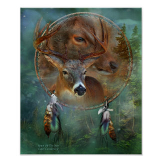 Dream Catcher Series-Spirit Of the Deer Poster