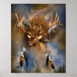 Dream Catcher Series -Spirit Of The Elk Poster