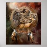 Dream Catcher Series-Spirit Of The Owl Poster