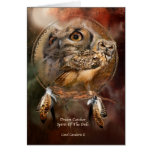 Dream Catcher Series-Spirit Of The Owls ArtCard Greeting Card