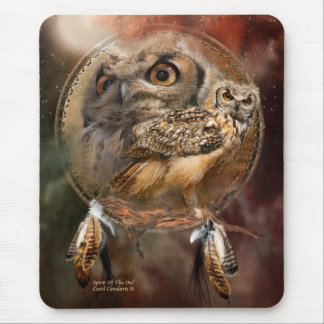 Dream Catcher Series - Spirit Of The Owls Mousepad