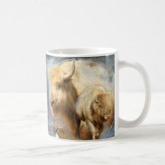 Dream Catcher Series -Spirit Of The White Buffalo Classic White Coffee Mug