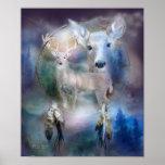 Dream Catcher Series-Spirit Of The White Deer Print