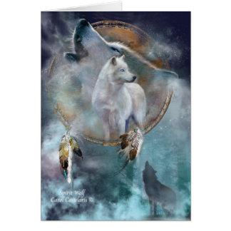 Dream Catcher Series -Spirit Wolf ArtCard Cards