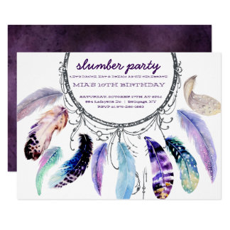 Dream-catcher Slumber Party Invitation