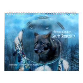 Dream Catcher Spirit Animals 2 Art Calendar