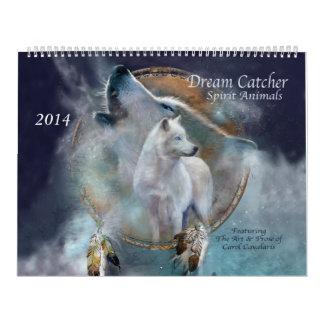 Dream Catcher Spirit Animals Art Calendar 2014