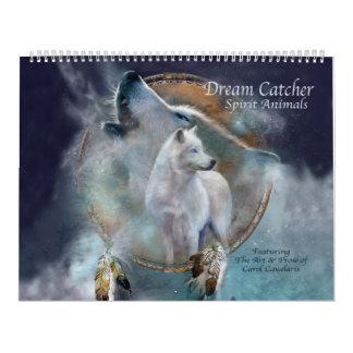Dream Catcher Spirit Animals Art Calendar 2016