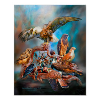 Dream Catcher_Spirit Birds Art Poster/Print Poster