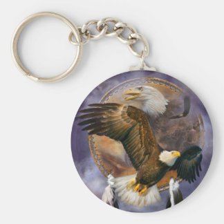 Dream Catcher - Spirit Eagles Art Keychain