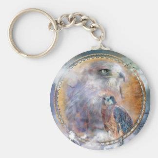 Dream Catcher - Spirit Hawks Art Keychain