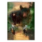 Dream Catcher - Spirit Of The Bear ArtCard Card