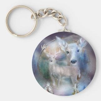 Dream Catcher - Spirit Of The White Deer Keychain