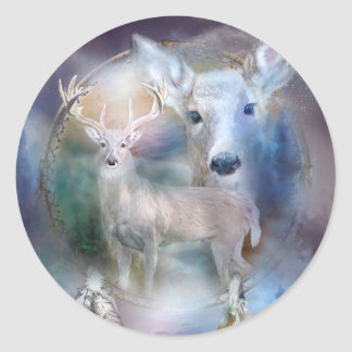 Dream Catcher - Spirit Of The White Deer Sticker