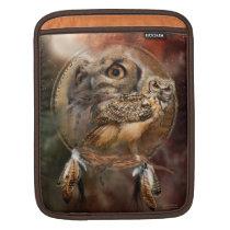 Dream Catcher - Spirit Owl iPad Sleeve