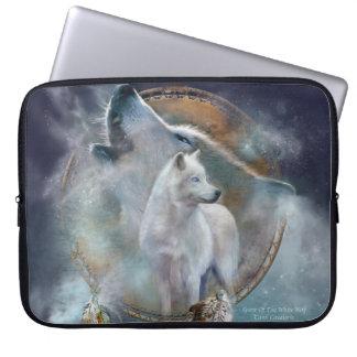Dream Catcher - Spirit Wolf Laptop Sleeve