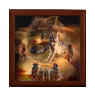 Dream Catcher - Spirit Wolves Art Giftbox Jewelry Box