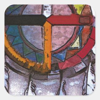 Dream catcher square sticker