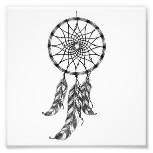 Dream catcher art framed artwork zazzle for Dreamcatcher tattoo template