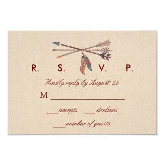 Dream Catcher Wedding RSVP Card Invitations