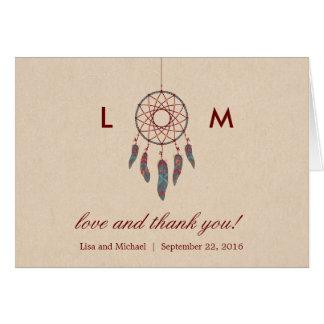 Dream Catcher Wedding Thank You Card