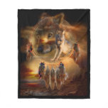 Dream Catcher - Wolfland Art Fleece Blanket