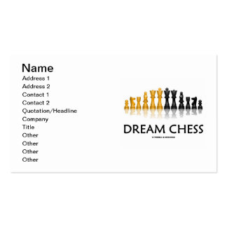 Dream Chess (Reflective Chess Set) Double-Sided Standard Business Cards (Pack Of 100)