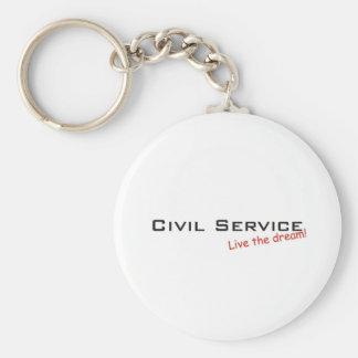 Dream / Civil Service Basic Round Button Keychain