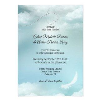 Dream Clouds Silver Lining Wedding Invitation