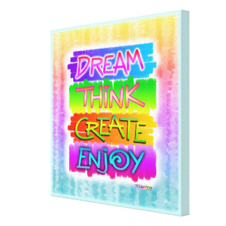 Dream Create INSPIRATIONAL Gallery Wrapped Canvas