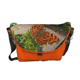 Dream Creatures, Butterfly, DeepDream Messenger Bag